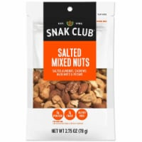 Century Snacks Snak Club Premium Pack Salted Mixed Nuts, 2.75 Ounce -- 6 per case. - 6-2.75 OUNCE