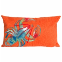 Liora Manne Visions II Indoor Outdoor Patio Accent Pillow, Lobster, 12 x 20 Inch - 1 Piece
