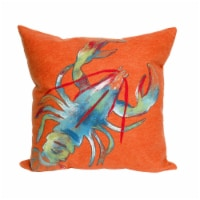 Liora Manne Visions II Indoor Outdoor Patio Accent Pillow, Lobster, 20 x 20 Inch - 1 Piece