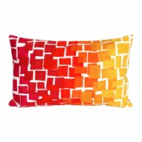 Liora Manne Mystic II Indoor Outdoor Patio Accent Pillow, Mosaic, 12 x 20 Inch - 1 Piece