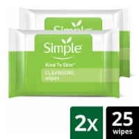Simple Cleansing Facial Wipes Twin Pack