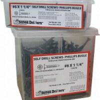 Sim Supply Self drill Screw,Pan,#10,2 In L,PK2000 HAWA 636375-BR