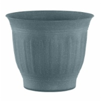 Bloem CLN12-54 12 in. Colonnade Wood Resin Planter, Forest Green