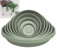 Bloem Terra Living Green 6 In. Plastic Flower Pot Saucer 51406 - 6 In.