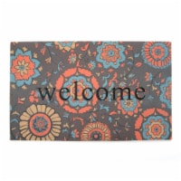 Stephan Roberts Home 30N-18RM58-06 18 x 30 in. Recycled Rubber Doormat - Medallion - 1