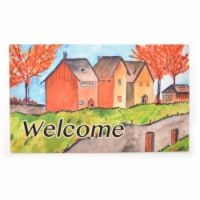 Stephan Roberts Home STRB-15805-12 18 x 30 in. Crumb Rubber Door Mat, Cottages in the Fall - 1