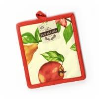 "Stephan Roberts 7"" x 8"" 100% Cotton Pot Holder - Apples - 1 unit  7"" x 8"""