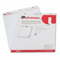 Universal 35603 Self-Stick Easel Pads  Unruled  25 x 30  White  Two 30-Sheet Pads Pack