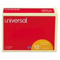 Universal 35673 Standard Self-Stick Notes  4 x 6  Yellow  12 100-Sheet Pads Pack
