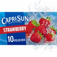 Capri Sun Strawberry Flavored Juice Drink Blend Pouches