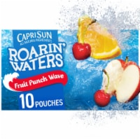 Capri Sun Roarin' Waters Fruit Punch Wave Flavored Water Beverage Pouches
