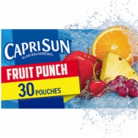 Capri Sun Fruit Punch Flavored Juice Drink Blend Pouches