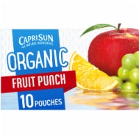 Capri Sun Organic Fruit Punch Juice Drink Blend Pouches