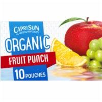 Capri Sun Organic Fruit Punch Juice Drink Blend Pouches - 10 ct / 6 fl oz