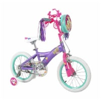 Dynacraft 16 Inch Barbie Kids Bicycle for Girls with Training Wheels and Toy - 1 Piece