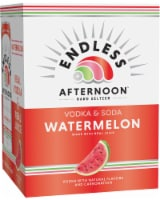 Endless Summer Afternoon Watermelon Vodka Soda - 4 cans / 12 fl oz