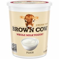 Brown Cow Cream Top Plain Whole Milk Yogurt
