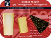 Cello Asiago Clothbound Cheddar & Herb Rubbed Fontina Cheese Flight - 10 oz