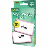 Teacher Created Resources EP-62037 Beginning Words Level A Flash Cards Sight Words