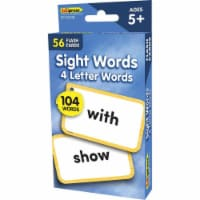 Teacher Created Resources EP-62040 4 Letters Words Flash Cards Sight Words