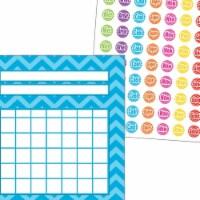 Teacher Created Resources 2021616 Incentive Charts & Stickers - Aqua Chevron Set - 1