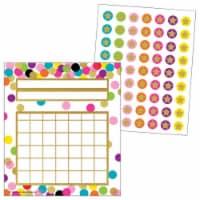 Teacher Created Resources 2021615 Incentive Charts & Stickers - Confetti Set - 1
