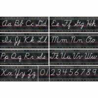 Chalkboard Brights Cursive Writing Bulletin Board Display Set - 1