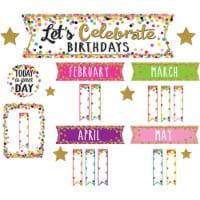 Teacher Created Resources TCR5884 Confetti Happy Birthday Mini Bulletin Board Set