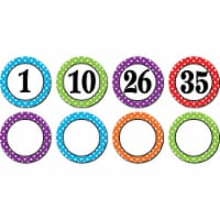 Polka Dots Numbers Magnetic Accents - 1