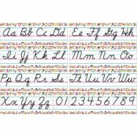 Colorful Vibes Cursive Writing Bulletin Board Set - 1