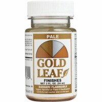 Sheffield Gold Leaf Finishes Indoor and Outdoor Gloss Pale Gold Light Base Acrylic Paint 2 o - Count of: 1