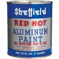 Sheffield  Red Hot  Silver  High Heat Paint  32 oz. - Case Of: 6; - Case of: 6