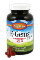Carlson E-Gems Elite Natural Vitamin E Soft Gels 400IU
