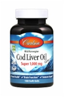 Carlson Super Cod Liver Oil Soft Gels 1000mg