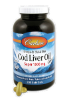 Carlson Cod Liver Oil 1000 mg Softgels