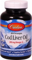 Carlson Wild Norwegian Cod Liver Oil Minis Mini Soft Gels 250mg