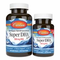 Carlson Super DHA Gems 1000mg Soft Gels - 80 ct