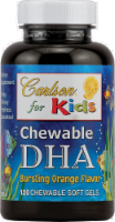Carlson for Kids Chewable DHA Bursting Orange Flavor Chewable Softgels 120 Count