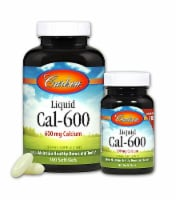 Carlson Liquid Cal 600 Soft Gels 600mg