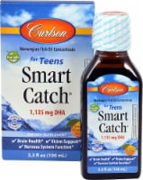 Carlson Smart Catch for Teens Orange Flavor Fish Oil Concentrate 1135mg