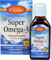 Carlson Super Omega-3 Lemon Flavor Fish Oil Concentrate 2600mg