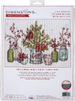 Dimensions Counted Cross Stitch Kit 14 x10 -Birds And Berries (14 Count) - 1