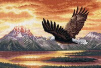"""Dimensions Gold Collection Counted Cross Stitch Kit 16""""X11""""-Silent Flight (18 Count)"""