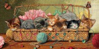 """Dimensions Gold Collection Counted Cross Stitch Kit 18""""X9""""-Kitty Litter (18 Count)"""