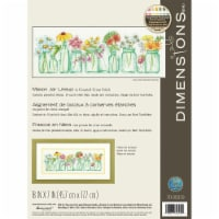 Dimensions Counted Cross Stitch Kit 18 X7 -Mason Jar Lineup (14 Count) - 1