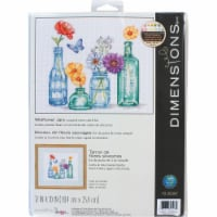 Dimensions® Wildflower Jars Counted Cross Stitch Kit