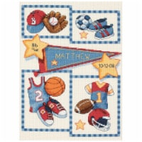 Dimensions Baby Hugs Counted Cross Stitch Kit 9 X12 -Little Sports Birth Record (14 Count) - 1