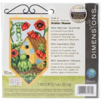 Dimensions Debbie Mumm Counted Cross Stitch Kit 5 X8 -Summer Banner (14 Count) - 1