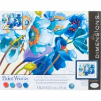 Dimensions® PaintWorks Blue Poppies Paint by Number Kit