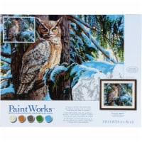 Dimensions® PaintWorks™ Great Horned Owl Paint by Number Kit